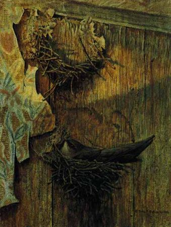 "Robert Bateman Limited Edition Paper Print:""Chimney Swift On Nest"""