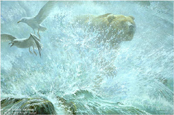 """Robert Bateman Limited Edition Paper Print:""""Endangered Spaces-Grizzly Premier Edition"""""""