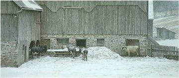 "Robert Bateman Limited Edition Print:""Winter Barnyard"""