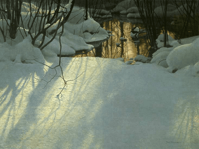 "Robert Bateman Limited Edition Print:""Winter Pond Merganser"""