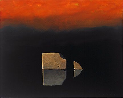 """Robert Deyber Artist Signed Limited Edition Hand-crafted Stone Lithograph:""""Another Chip off the Old Block"""""""