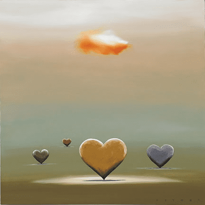 """Robert Deyber Artist Signed Limited Edition Hand-crafted Stone Lithograph:""""Heartland"""""""