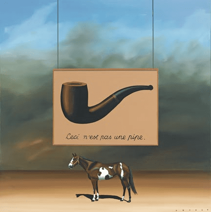 """Robert Deyber Artist Signed Limited Edition Hand-crafted Stone Lithograph:""""Paint Horse - Magritte """""""