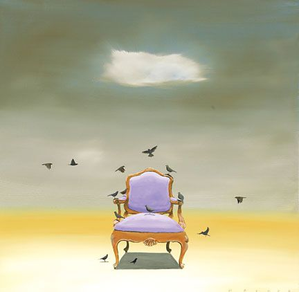 "Robert Deyber Artist Signed Limited Edition Hand-crafted Stone Lithograph:""The Catbird Seat"""