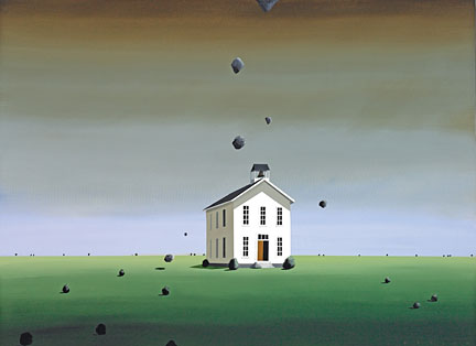 "Robert Deyber Artist Signed Limited Edition Hand-crafted Stone Lithograph:""The School of Hard Knocks"""