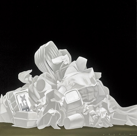"""Robert Deyber Artist Signed Limited Edition Hand-crafted Stone Lithograph:""""White Trash"""""""