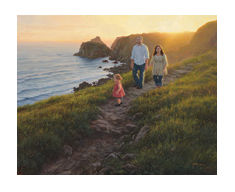 """Robert Duncan Hand Signed and Numbered Limited Edition Canvas Giclee:""""Along the Cliffs"""""""