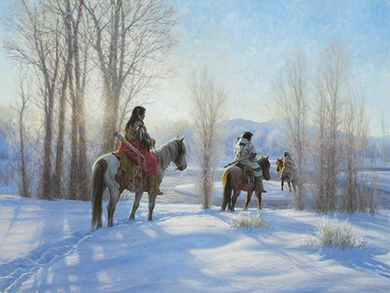 "Robert Duncan Hand Signed and Numbered Limited Edition Canvas Giclee:""Cold Journey"""