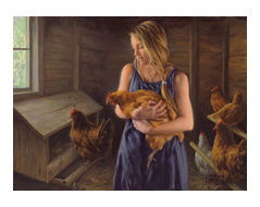 """Robert Duncan Hand Signed and Numbered Limited Edition Canvas Giclee:""""Gentle Hands"""""""