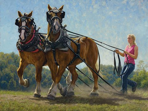 """Robert Duncan Hand Signed and Numbered Limited Edition Canvas Giclee:""""Girl Power"""""""