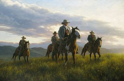 "Robert Duncan Hand Signed and Numbered Limited Edition Canvas Giclee:""Open Range"""