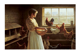"""Robert Duncan Hand Signed and Numbered Limited Edition Canvas Giclee:""""The Egg Basket"""""""