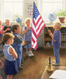 """Robert Duncan Hand Signed and Numbered Limited Edition Canvas Giclee:""""The Pledge"""""""