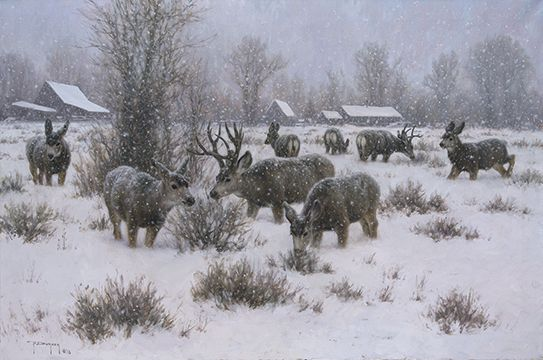 "Robert Duncan Hand Signed and Numbered Limited Edition Canvas Giclee:""The Villagers"""