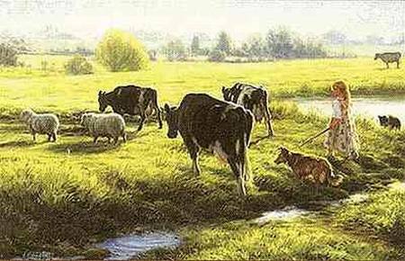 """Robert Duncan Limited Edition Print: """"Cow Girl"""""""