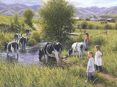 """Robert Duncan Limited Edition Print: """"Farms are for Kids"""""""