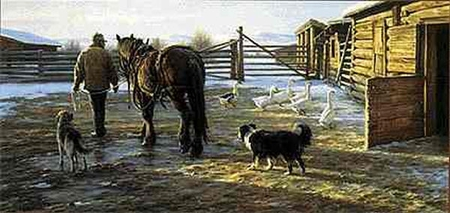 """Robert Duncan Limited Edition Print: """"Icy Morning"""""""