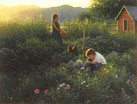 """Robert Duncan Limited Edition Print: """"Our Country Garden'"""""""