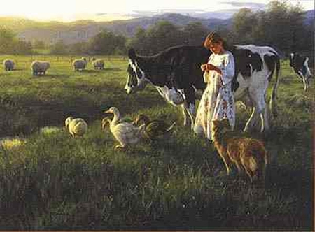 """Robert Duncan Limited Edition Print: """"Out in the Pasture"""""""
