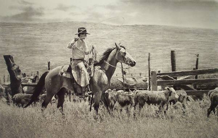 """Robert Shufelt Handsigned and Numbered Limited Edition: """"#2/Ropin' To A Full House"""""""