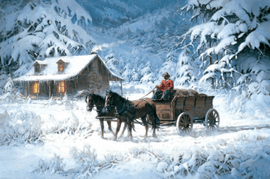 "Robert Summers Handsigned & Numbered Limited Edition Print:""Winter's Lace """