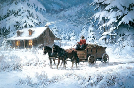 """Robert Summers Handsigned & Numbered Limited Edition Print:""""Winter's Lace """""""