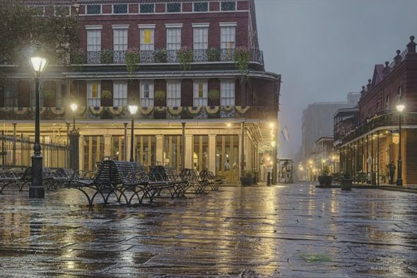 "Rod Chase Artist Hand Signed and Numbered Limited Editon Canvas Giclee:""Morning in New Orleans"""