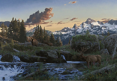 """Rod Frederick Handsigned & Numbered Limited Edition Print:""""Evening Majesty"""""""