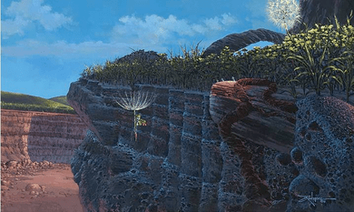 """Rodel Gonzalez Hand Embellished Limited Edition Canvas Giclee: """"Flying on a Breeze"""""""
