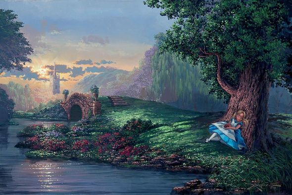 """Rodel Gonzalez Hand-Textured Limited Edition Giclée on Canvas: """"Dreaming of Wonderland"""""""