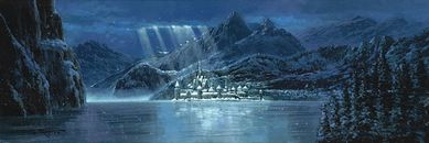 "Rodel Gonzalez Signed and Numbered Giclée on Canvas: ""Arendelle - Frozen"""