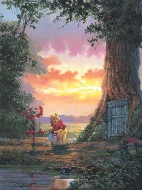 "Rodel Gonzalez Signed and Numbered Giclée on Canvas: ""Good Morning Pooh"""