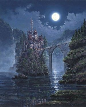 """Rodel Gonzalez Signed and Numbered Hand-Embellished Giclée on Canvas: """"Siege on Beast's Castle"""""""