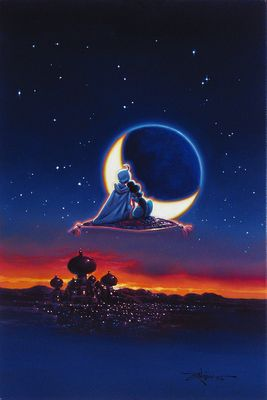 "Rodel Gonzalez Signed and Numbered Limited Edition Hand-Embellished Giclée on Canvas:""Magical Journey"""