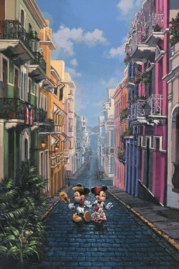 """Rodel Gonzalez Signed Limited Edition Hand-Embellished Canvas Giclée:""""Colorful Vacation"""""""