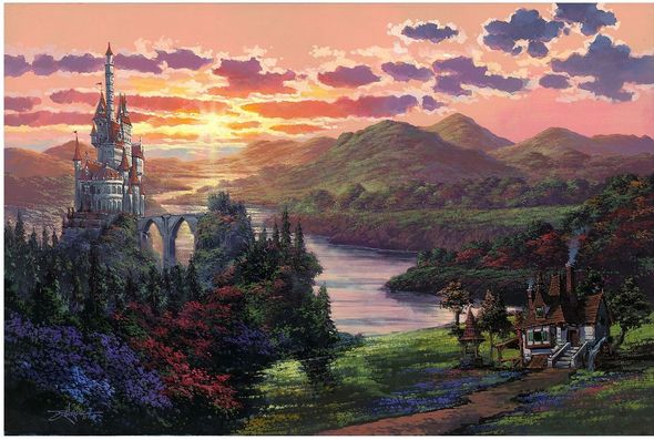 "Rodel Gonzalez Signed Limited Edition Hand-Embellished Canvas Giclée:""The Beauty in Beast's Kingdom"""