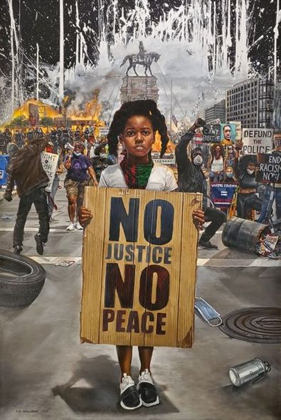 "Kevin A. Williams (WAK) Signed and Numbered Limited Edition Print:""2020: Civil Unrest"""