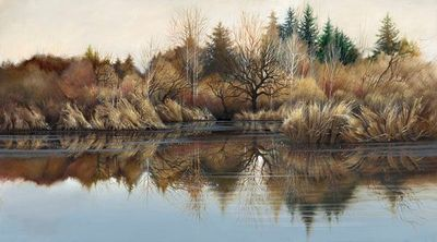 """Lee Bogle Hand Signed and Numbered Limited Edition Canvas Giclee:""""Reflections"""""""