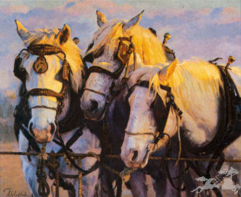 """Ron Riddick Hand Signed & Numbered Limited Edition on Paper:""""Dawn's Early Light"""""""