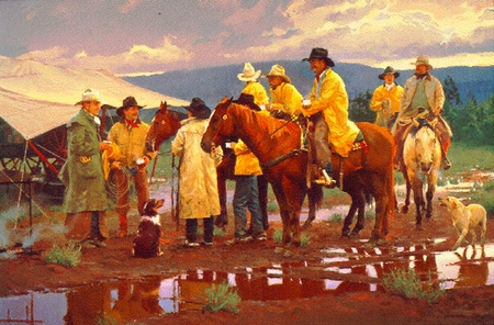 """Ron Riddick Limited Edition Artist Proof Print:""""Muddy Arbuckle Cafe"""""""