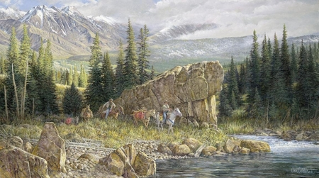 "Ron Van Gilder Limited Edition Print:""Down From the High Country"""