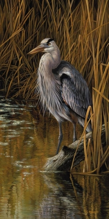 """Rosemary Millette Hand Signed & Number Limited Edition Print:""""Blue Heron"""""""