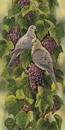 "Rosemary Millette Limited Edition Print: "" Vineyard-Mourning Doves"""