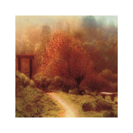 """Sally Wetherby Signed and Numbered Limited Edition Giclée on Canvas:""""A Path With Bench"""""""