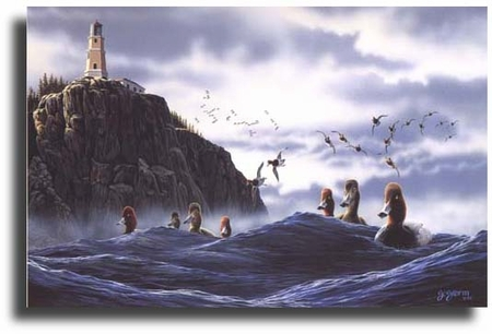 "Scot Storm Limited Edition Giclee on Paper:""North Shore Rafters"""