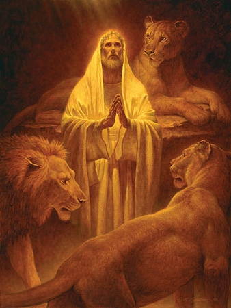 """Scott Gustafson Handsigned and Numbered Limited Edition:""""Daniel in the Lion's Den"""""""