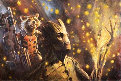 """Christopher Clark  Marvel Studio Limited Edition Giclee Print:""""Glowing Seeds"""""""