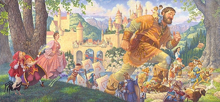 """Scott Gustafson Handsigned and Numbered Limited Edition Print:""""Happily Ever After"""""""
