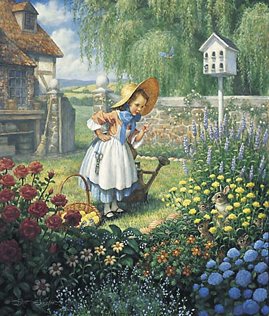 """Scott Gustafson Limited Edition Print:""""Mary,Mary,Quite Contrary """""""