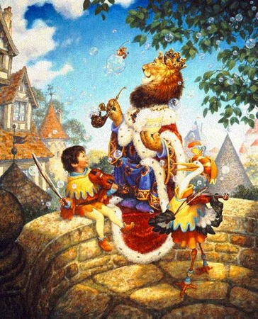 """Scott Gustafson Limited Edition Print:""""Old King Cole"""""""